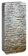 Whitewash Old Stone Wall Portable Battery Charger