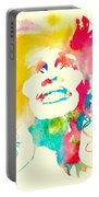 Whitney Houston Watercolor Canvas Portable Battery Charger