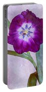 Wide Open Tulip Portable Battery Charger