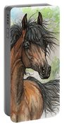 Wieza Wiatrow Polish Arabian Mare Watercolor Painting  Portable Battery Charger