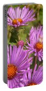 Wild Asters Portable Battery Charger