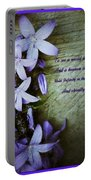 Wild Blue Flowers And Innocence 2 Portable Battery Charger