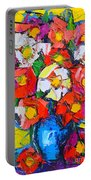 Wild Colorful Flowers Portable Battery Charger