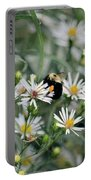 Wild Daisies And The Bumblebee Portable Battery Charger