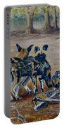 Wild Dogs After The Chase Portable Battery Charger