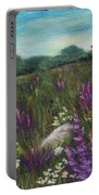 Wild Flower Field Portable Battery Charger