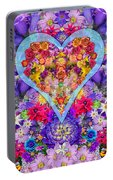 Wild Flower Heart Portable Battery Charger