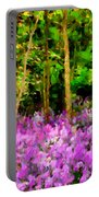 Wild Forest Violets Portable Battery Charger