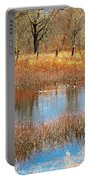 Wild Geese On The Farm Portable Battery Charger