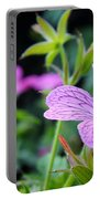Wild Geranium Flowers Portable Battery Charger