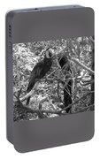Wild Hawaiian Parrot Black And White Portable Battery Charger
