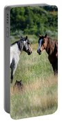 Wild Horses In Medora Portable Battery Charger