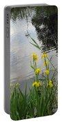 Wild Iris By The Pond Portable Battery Charger by Ausra Huntington nee Paulauskaite