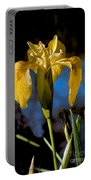 Wild Iris Portable Battery Charger by Robert Bales