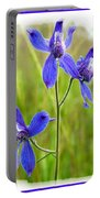 Wild Larkspurs Portable Battery Charger