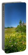 Wild Mountain Flowers Glacier National Park   Portable Battery Charger