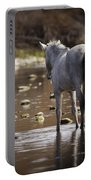 Wild Mustang On The River  Portable Battery Charger