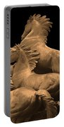 Wild Mustang Statue I I I Portable Battery Charger