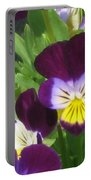Wild Pansies Or Johnny Jump-ups 1 Portable Battery Charger