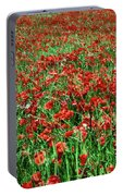 Wild Poppies Growing In A Field, South Portable Battery Charger
