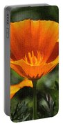 Wild Poppy On The Loose Portable Battery Charger