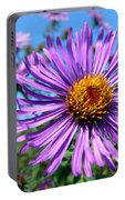 Wild Purple Aster Portable Battery Charger