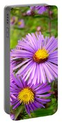 Wild Purple Asters Portable Battery Charger