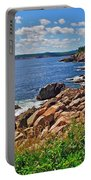 Wild Roses At Lakies Head In Cape Breton Highlands Np-ns Portable Battery Charger