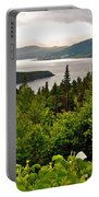 Wild Roses At Photographer's Point Overlooking Bonne Bay In Gros Morne Np-nl Portable Battery Charger
