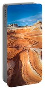 Wild Sandstone Landscape Portable Battery Charger by Inge Johnsson