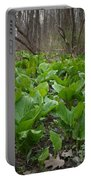 Wild Skunk Cabbage Portable Battery Charger