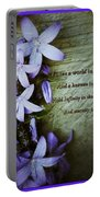 Wild Star Flowers And Innocence  Portable Battery Charger