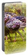 Wild Turkey Hens Portable Battery Charger by Barry Jones