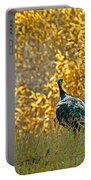 Wild Turkeys And Fall Colors Portable Battery Charger