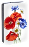 Wildflower Arrangement Portable Battery Charger