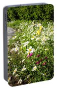 Wildflower Garden And Path To Gazebo Portable Battery Charger