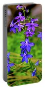 Wildflower Larkspur Portable Battery Charger