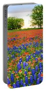 Wildflower Tapestry Portable Battery Charger