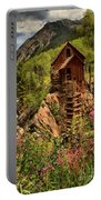 Wildflowers And Clouds Portable Battery Charger