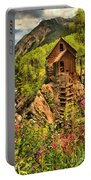 Wildflowers At Crystal Portable Battery Charger by Adam Jewell