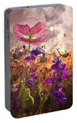 Wildflowers At Dawn Portable Battery Charger