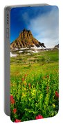 Wildflowers At Logan Pass Portable Battery Charger