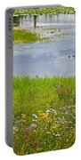Wildflowers By Heron Pond In Grand Teton National Park-wyoming Portable Battery Charger