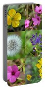 Wildflowers Mosaic Portable Battery Charger