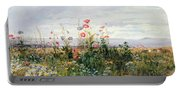 Wildflowers With A View Of Dublin Dunleary Portable Battery Charger