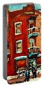 Wilenskys Hockey Art Paintings Originals Commissions Prints Montreal Deps Street Art Carole Spandau  Portable Battery Charger