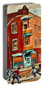 Wilenskys Paintings Hockey Art Commissions Originals Prints By Authentic Montreal Artist C Spandau Portable Battery Charger