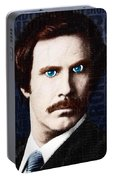 Will Ferrell Anchorman The Legend Of Ron Burgundy Words Color Portable Battery Charger