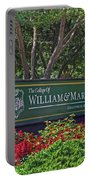 William And Mary Welcome Sign Portable Battery Charger