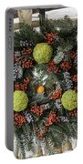 Williamsburg Wreath Squared Portable Battery Charger